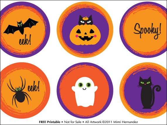 free printable halloween cupcake toppers - Halloween Decorations Cupcakes