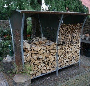 13 Easy And Creative DIY Firewood Rack And Storage Ideas