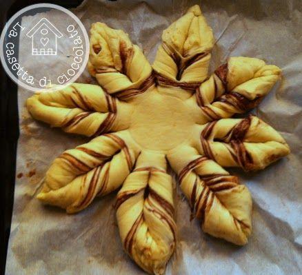 Ecco un'altra idea per la colazione di Natale , un buonissimo pan brioches ripieno di nutella a forma di stella. Io ho usato la pasta m...