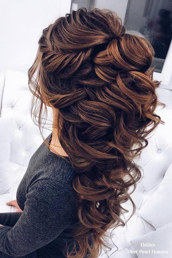 20 lange Hochzeitsfrisuren für die Braut von Elstiles #hairandbeauty