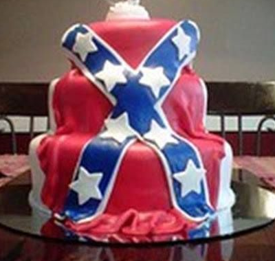 3 Tiered Confederate Flag Cake