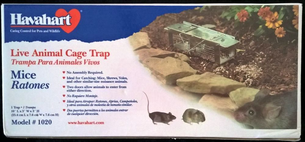 Havahart 1020 Small Live Animal Cage Trap Two Door Mouse Trap Pet Cage Mouse Traps Live Animals