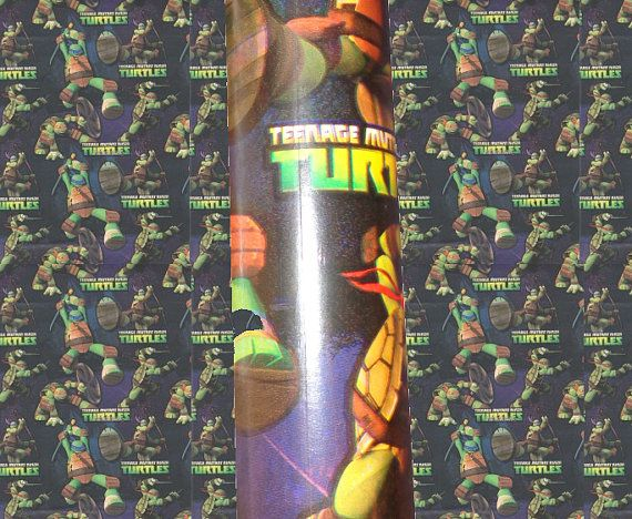 Teenage Mutant Ninja Turtles gift wrap TMNT | Gift Wrap, gift bows ...