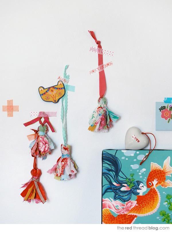 Diy Tassel  : DIY make sweet scrap fabric tassels