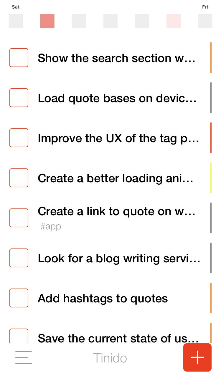 We Use Tinido Itself To Keep Track Of Its Todo List In 2020 Blog Writing Task Management App Getting Things Done