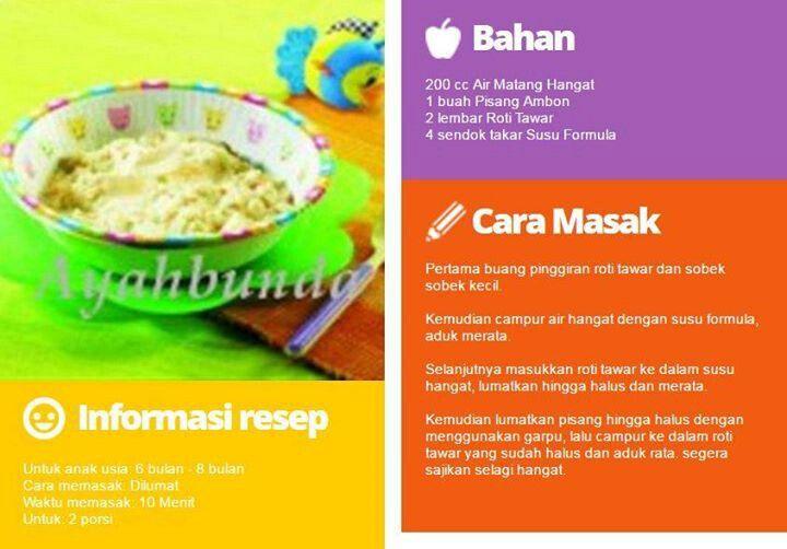 Pin Oleh Candra Lucky Di Resep Makanan Bayi 6 Bulan Resep Makanan Bayi Makanan Bayi Resep