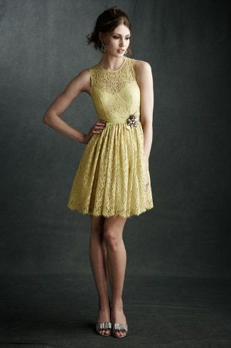 sweet but sexy lace dress in buttery yellow