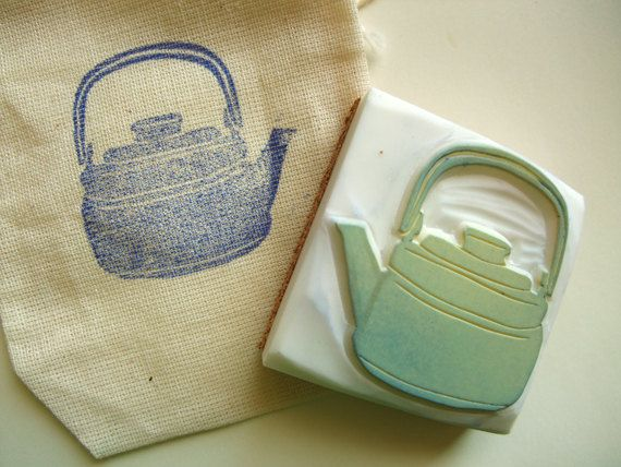 tea kettle stamp....all the stamps in this etsy shop (talktothesun) are amazing.