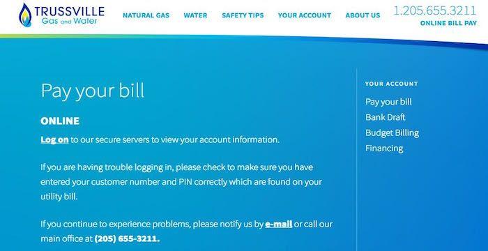Trussville Utilities Bill Pay Online, Login, Customer