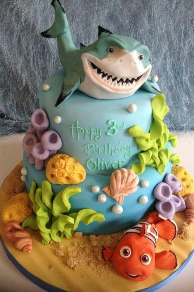 Finding Nemo inspired cake! Pick your favorite movie character and personalize your cake