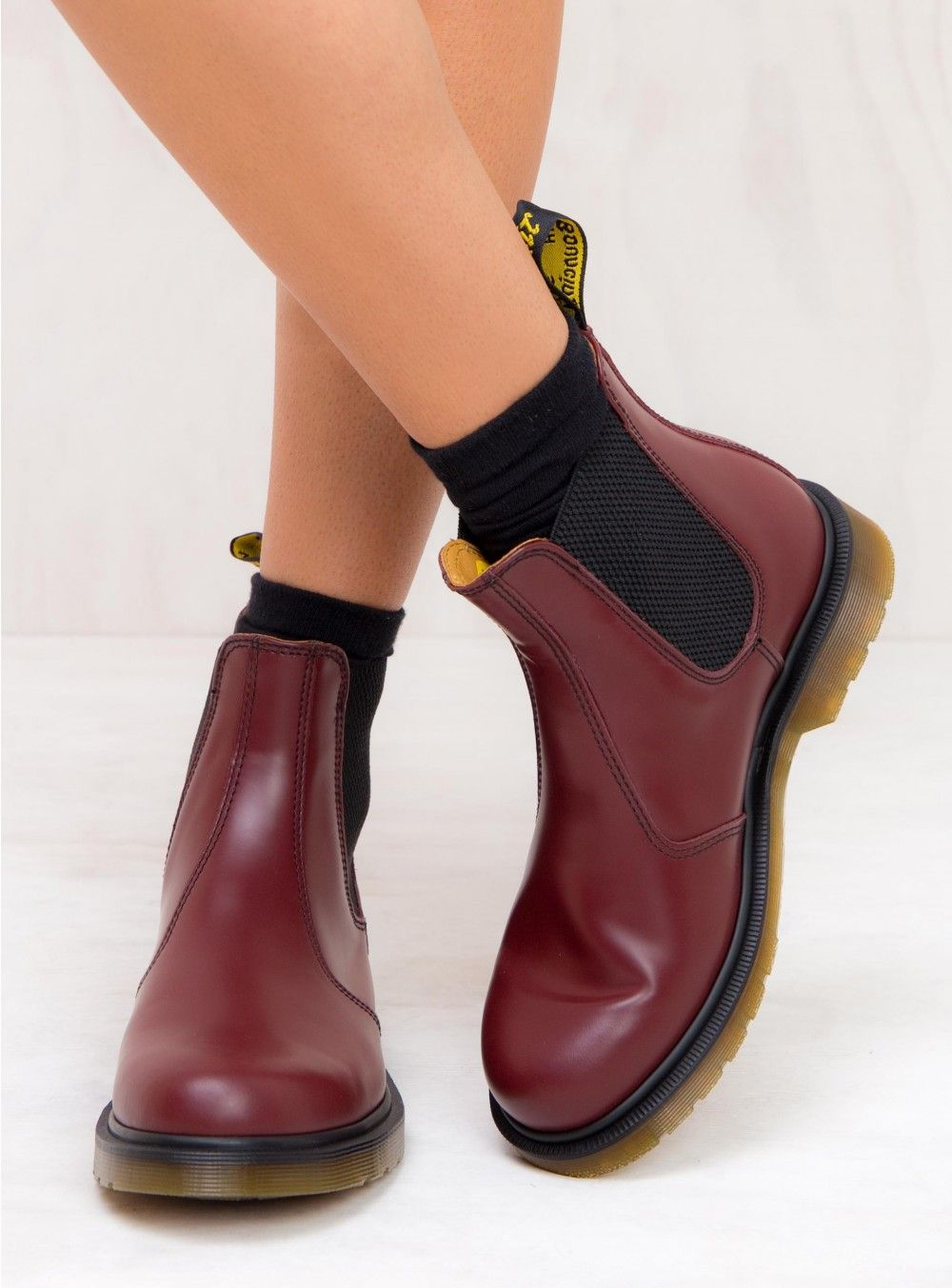 Dr. Martens 2976 Smooth Chelsea Boots Cherry Red  9fd7b02d874