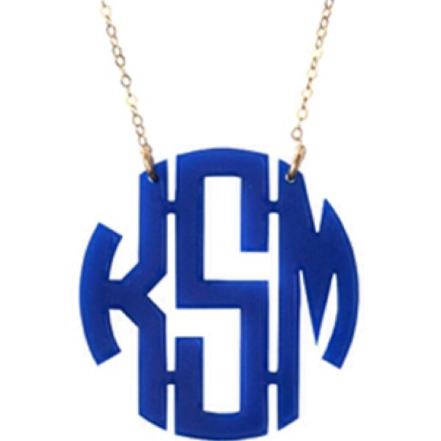 Initials on necklace. Getting LSD on white/clear.