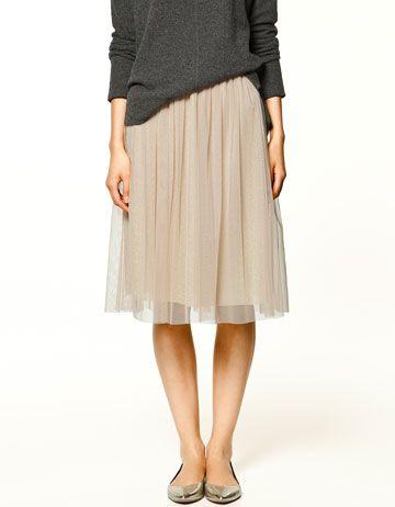 TULLE SKIRT Skirts Collection TRF ZARA ZARA_XA
