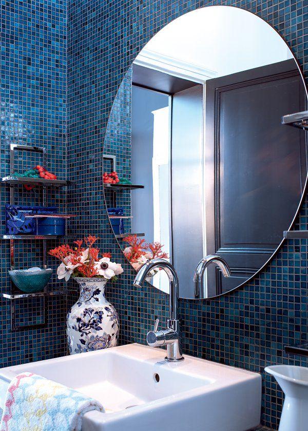 Des salles de bains bleues et design Bathroom designs and Bath - salle de bain en bleu