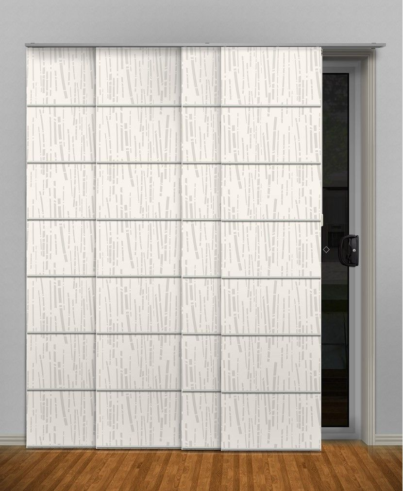 Panel glide blinds panel blinds print and bamboo