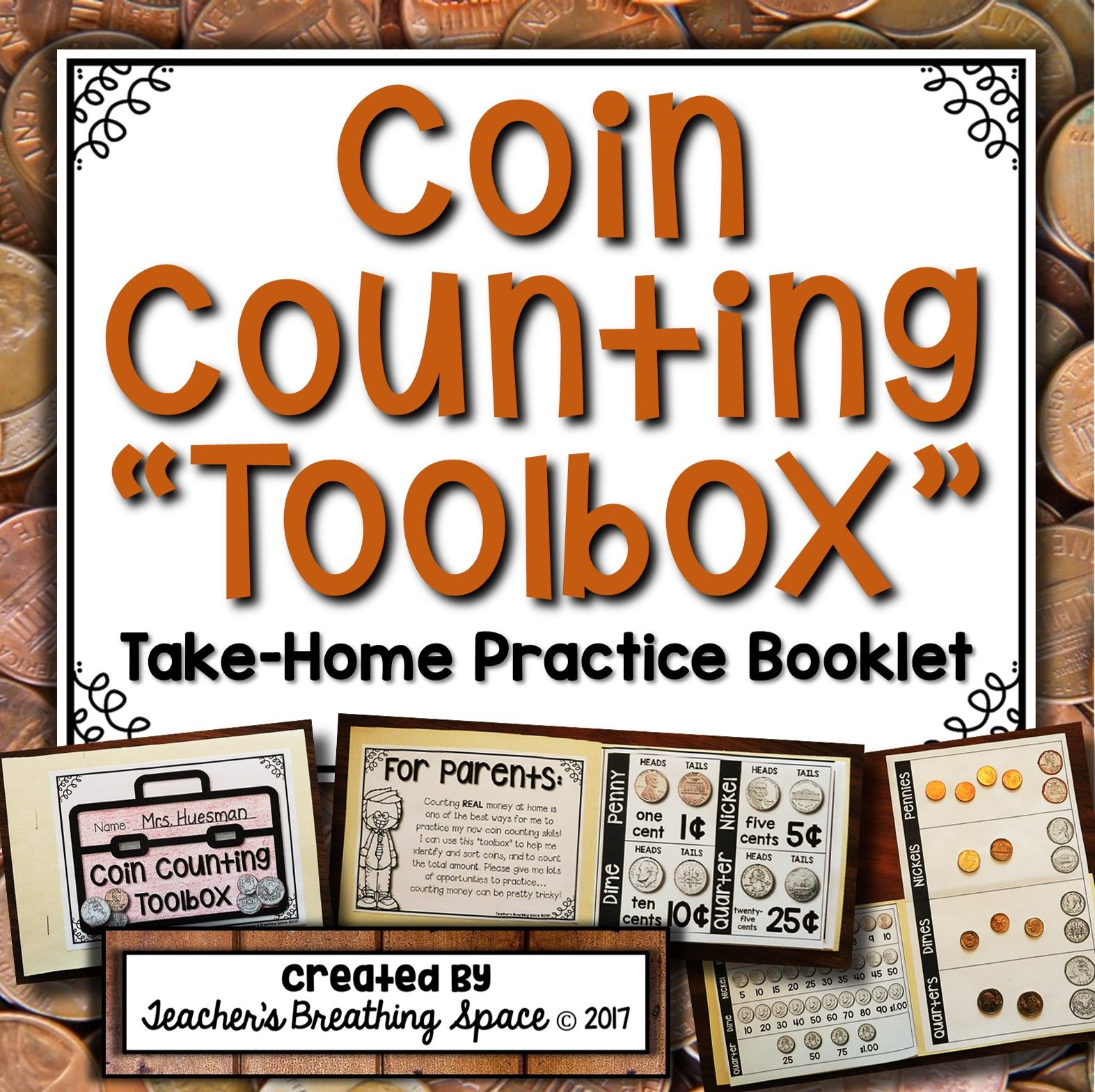U S Coin Counting Toolbox Take Home Coin Counting