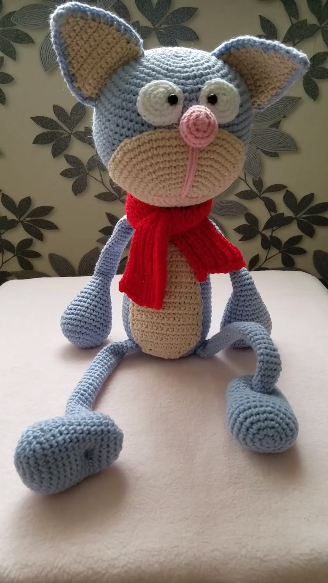 Knitted cat, Cat toy, Knitted animals, Knitted cat toy, Knitted child toy, Handmade amigurumi toy, Soft toy, Interior toy, Animal doll