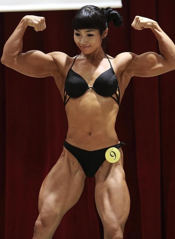 Asian Female Body Builder