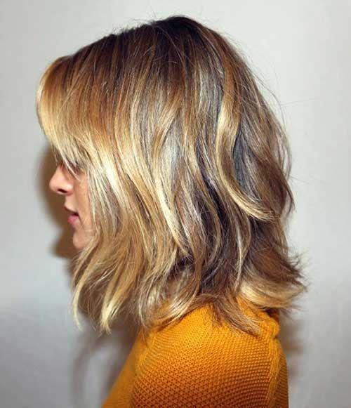 25 Popular Layered Medium Haircuts | Brunette to blonde, Hair ...