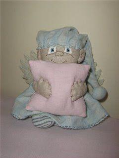 anjinho dorminhoco com molde