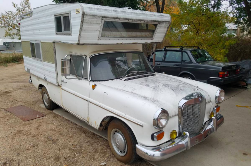 This Mercedes 190D Camper For Sale on Craigslist May Be ...