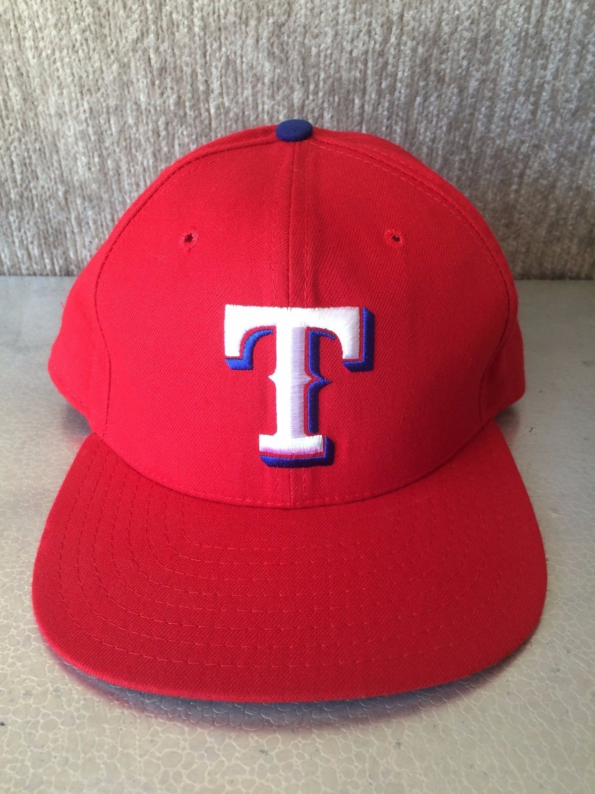 acdca951e80 ... ebay vintage texasrangers red baseball cap newera dupont visor pro med  large snapback hat 68bb7 a471f