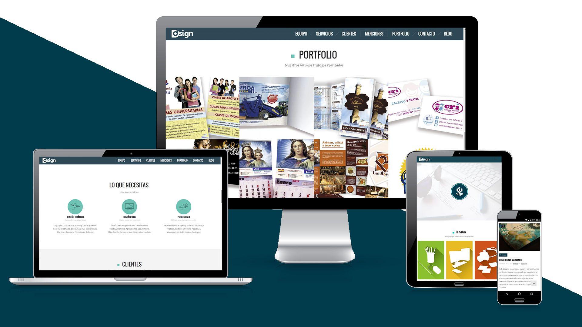 D·SIGN   Diseño y Publicidad - Diseño web responsive, portfolio y blog