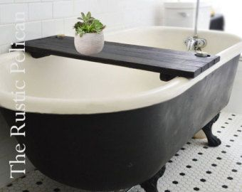 Gentil Reclaimed Wood Tub Caddy Rustic Bathtub Tray Barn By RusticPelican