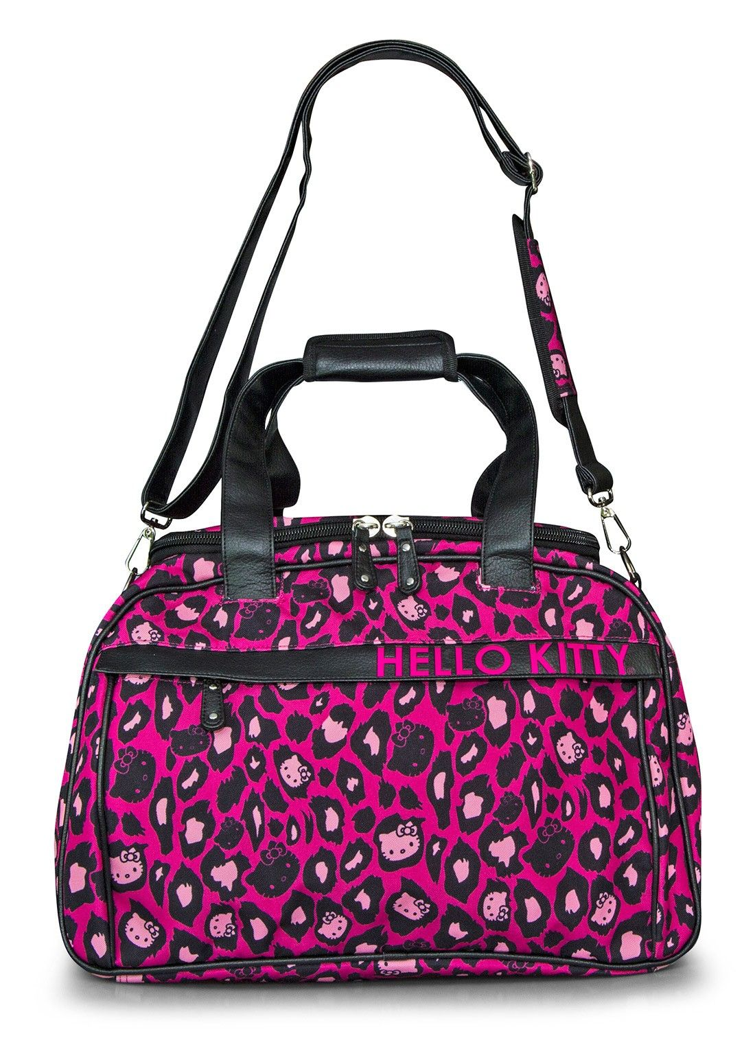 5211b1c5cf Hello Kitty Pink Leopard Print Duffle - Travel Bags Luggage - Bags ...