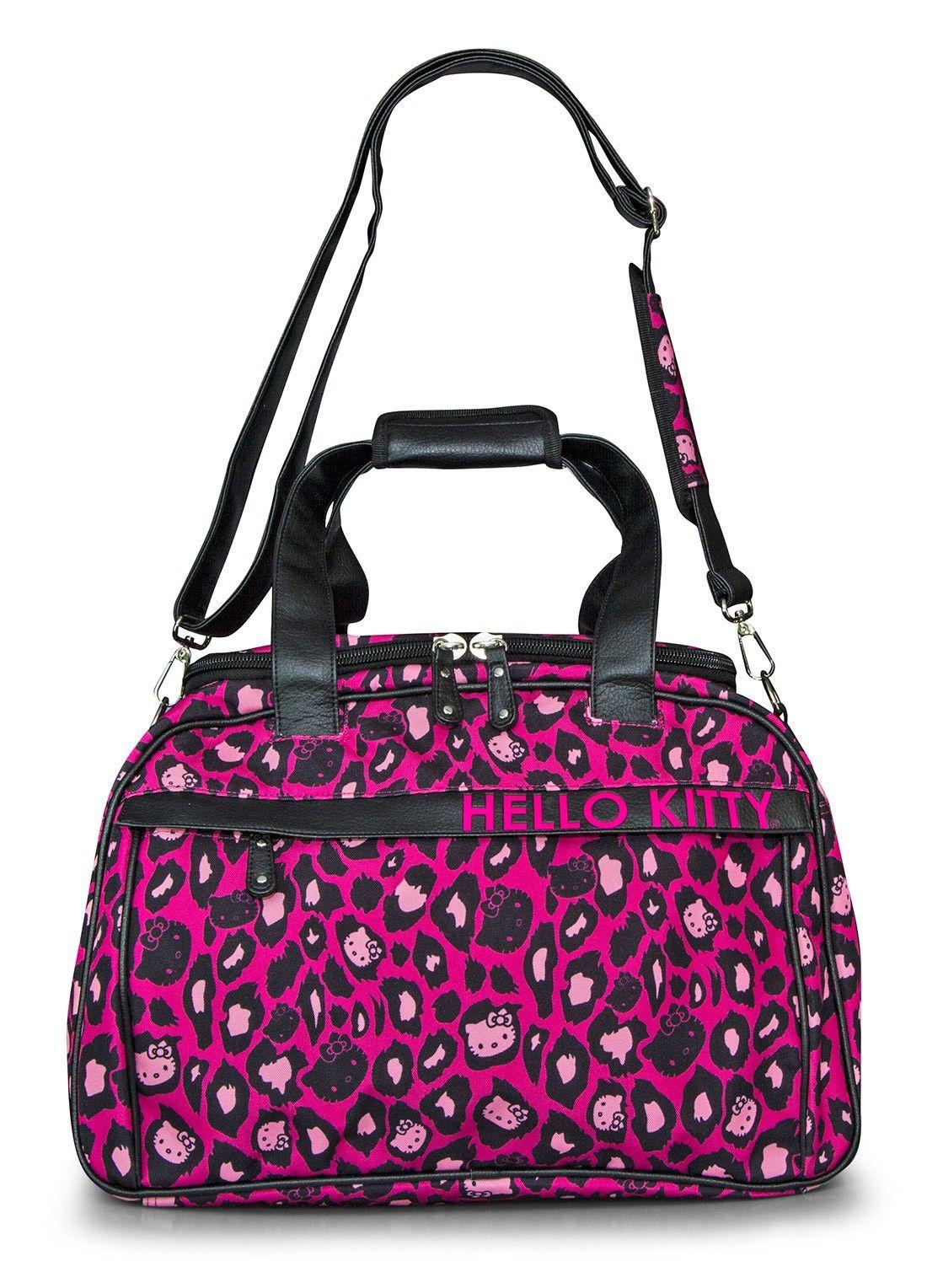 5211b1c5cf Hello Kitty Pink Leopard Print Duffle - Travel Bags Luggage - Bags ...