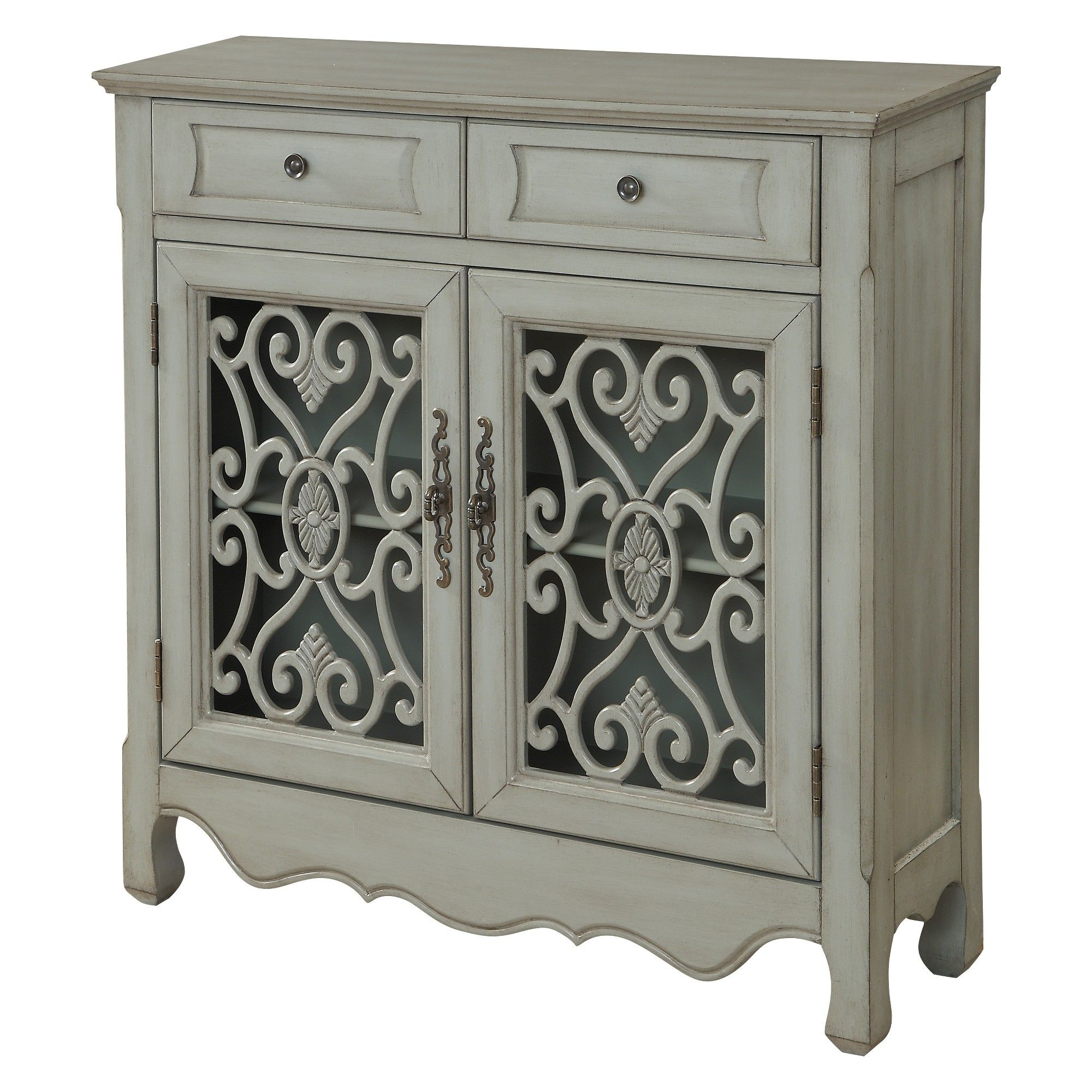 Christopher Knight Home Harvester Storage Cabinet Green