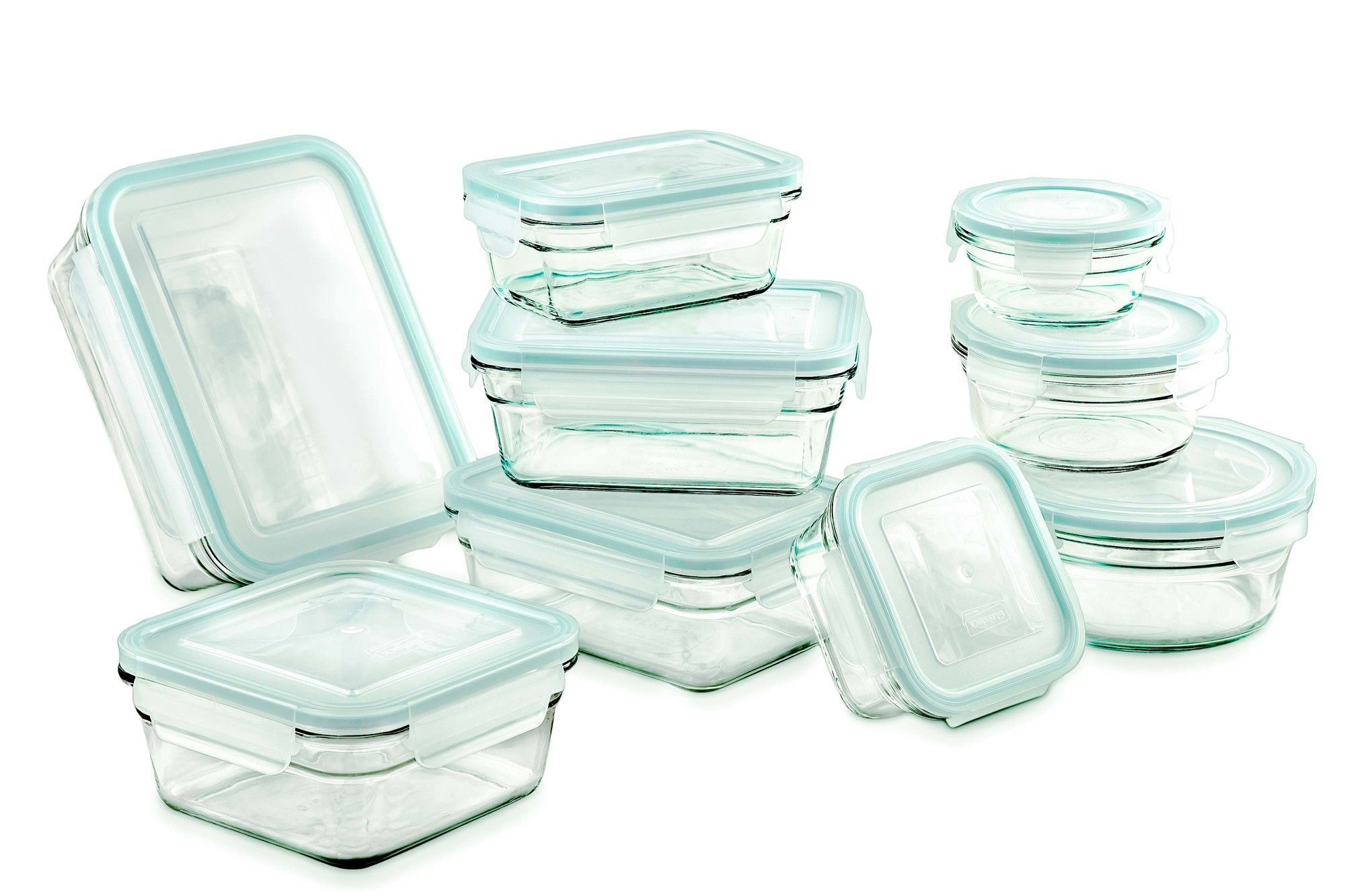 Glasslock Food Storage Container Sets 18 Piece Glasslock Storage Container Set  Products  Pinterest