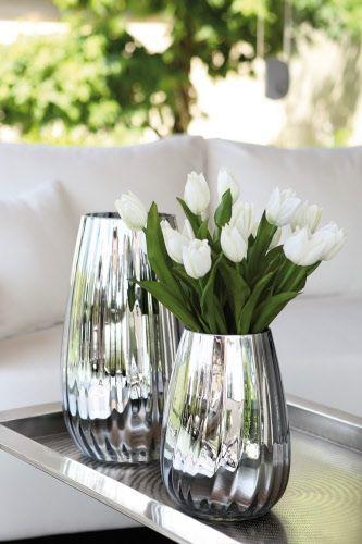 Fink Glasvase Solcostripe Material Glas Silber Erhaltlich In 2