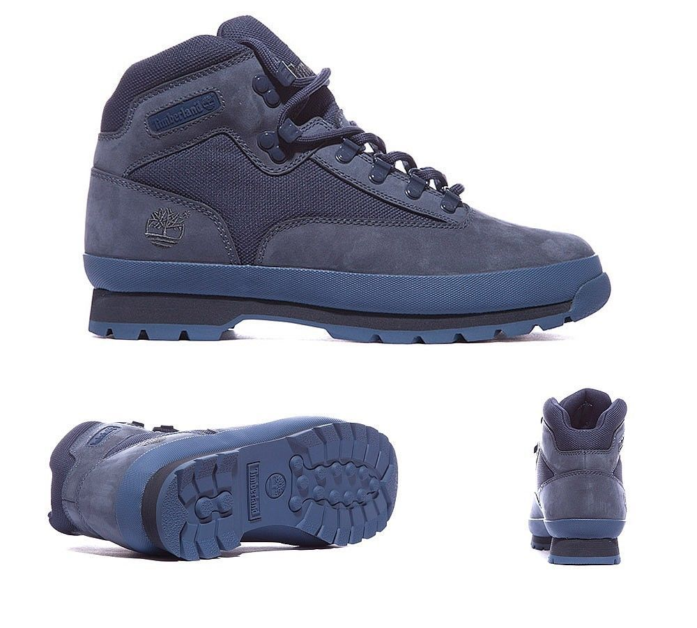 Temprano cobertura retirada  Mens Timberland Euro Hiker Boots Navy Blue Suede Sizes UK 7 - UK ...