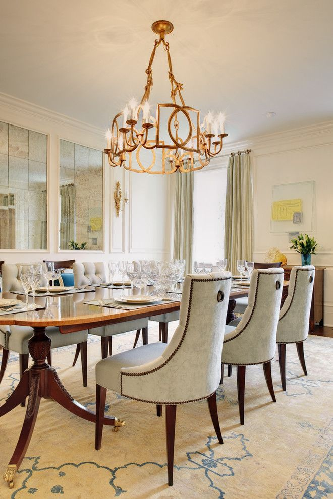 decorative mirrors for dining room chandelier fixture