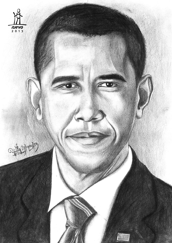 Barack Obama Charcoal + Graphite Pencil on paper | Art - kids - favs ...