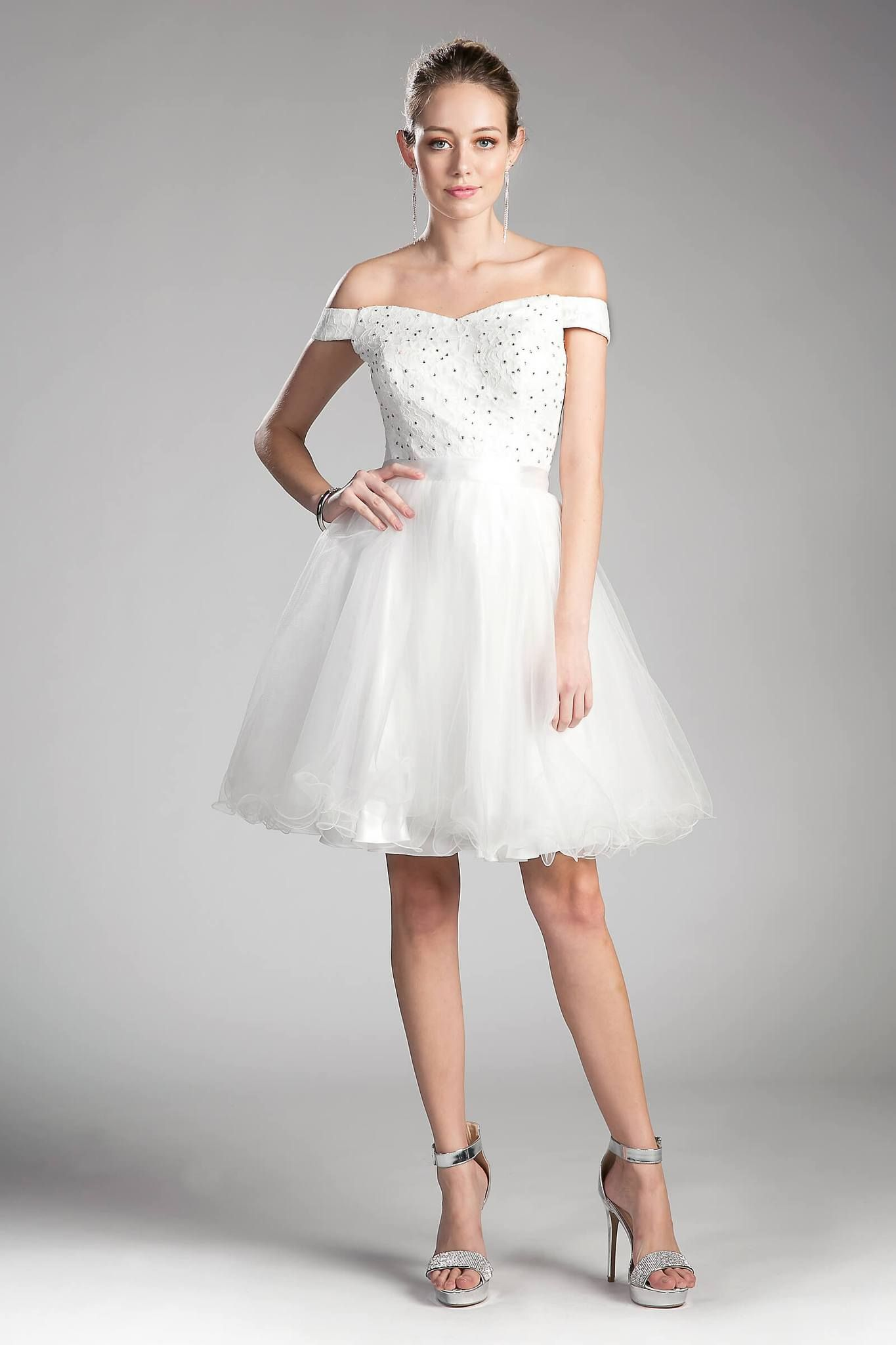 Prom Short Off Shoulder Homecoming Lace Cocktail Dress ...