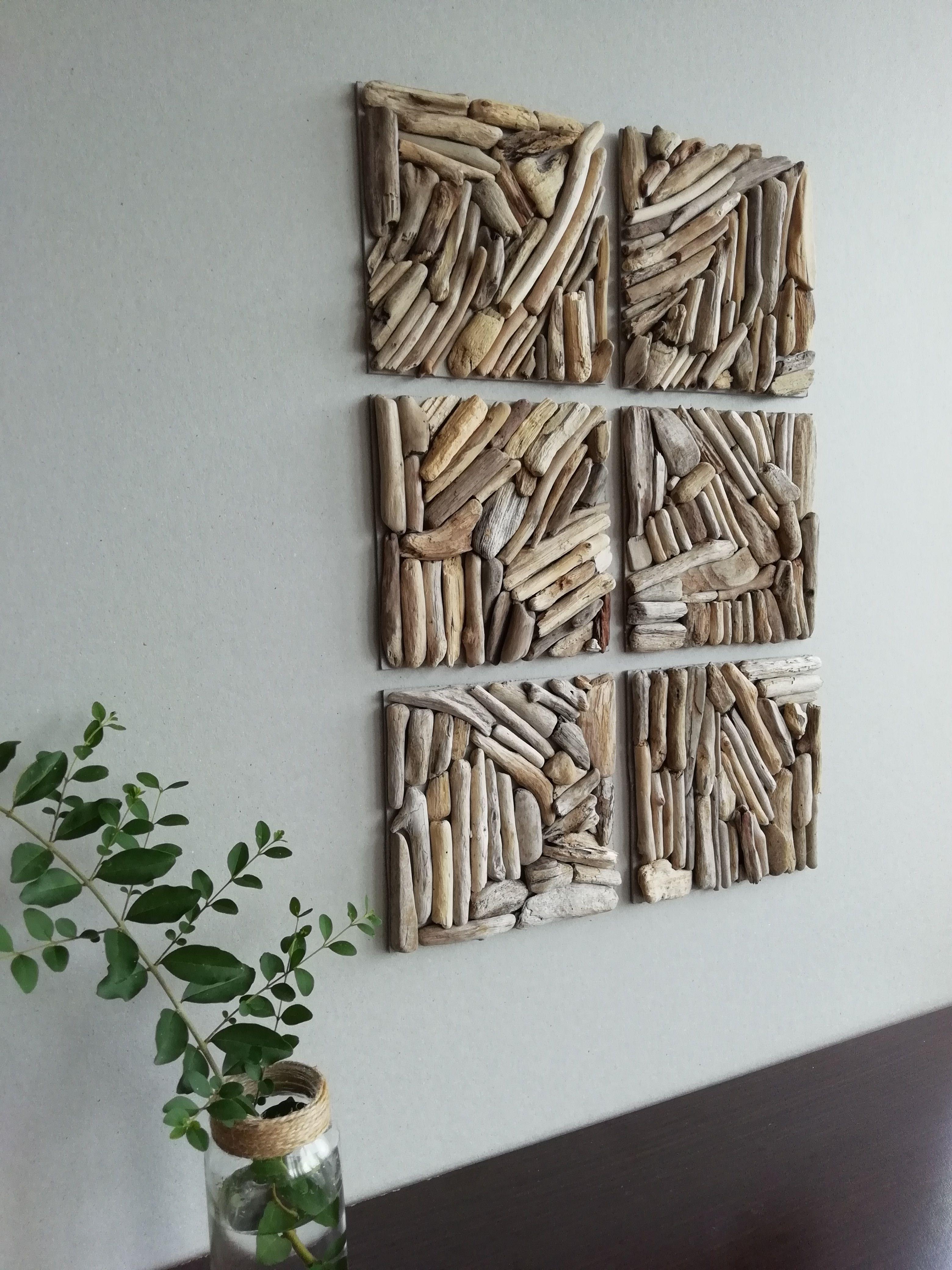Photo of 5.91″ Set Square wall decor Wood wall tiles Driftwood Square tiles 3D wall decoration Geometric wall Wooden Square Rustic Decorative wall