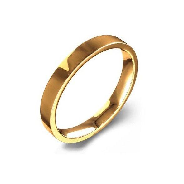 45a7206a75d0 Alianza de boda de oro amarillo de primera ley de 18 quilates