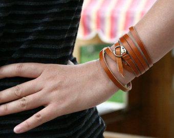 Belt Colors Thin Leather Bracelet Skinny Wrap Genuine With Bronze Buckle Black