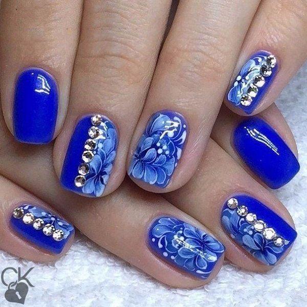 65 Blue Nail Art Ideas | Blue nails, Nail art blue and Nail trends