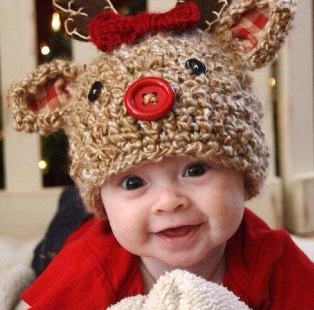 How adorable! | Loves❤ | Pinterest | Elch, Mütze und Haube häkeln