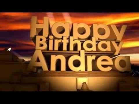 Happy Birthday Andrea Youtube Auguri Di Buon Compleanno Buon