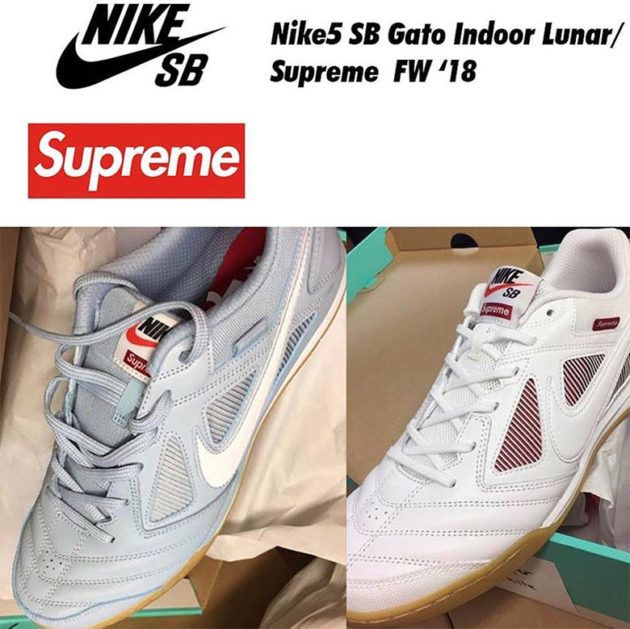 a8f0096e1 ... First Look Supreme x Nike SB Lunar Gato Indoor Another Supreme x Nike  collab ...