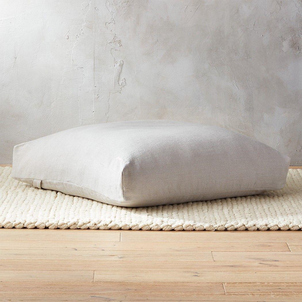 Sedona Large Zabuton Floor Pillow Reviews Cb2 Large Floor Pillows Floor Pillows Living Room Large Floor Cushions