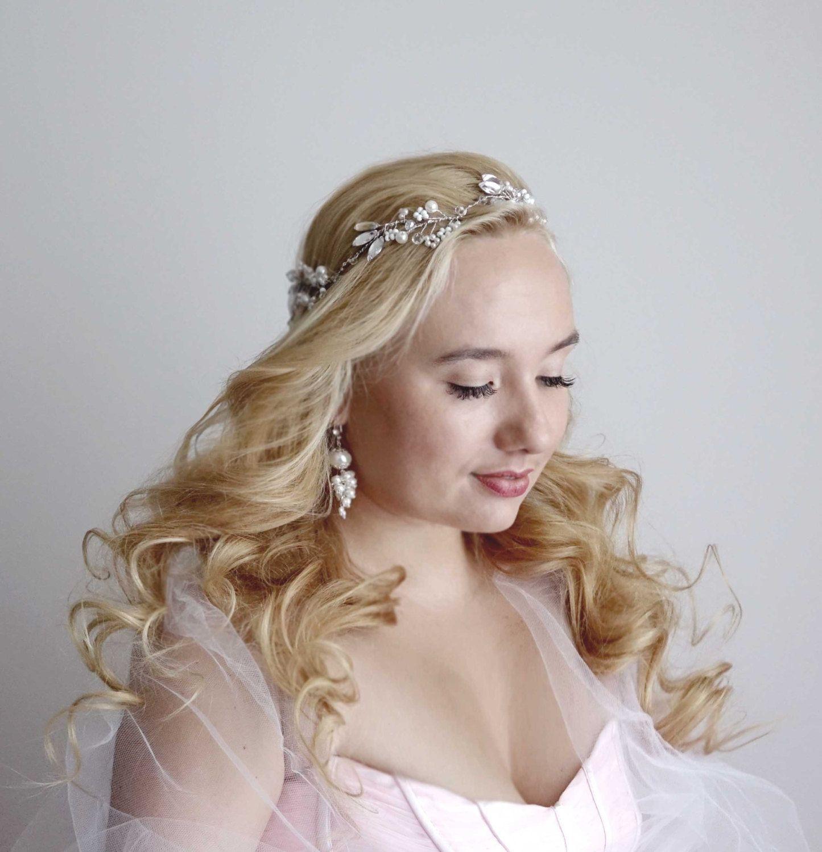 bridal hairpiece, wedding hair wreath, wedding hairpiece, boho hair