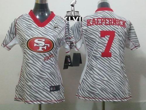 wholesale dealer 8b017 bcc23 Nike 49ers #7 Colin Kaepernick Zebra Super Bowl XLVII ...