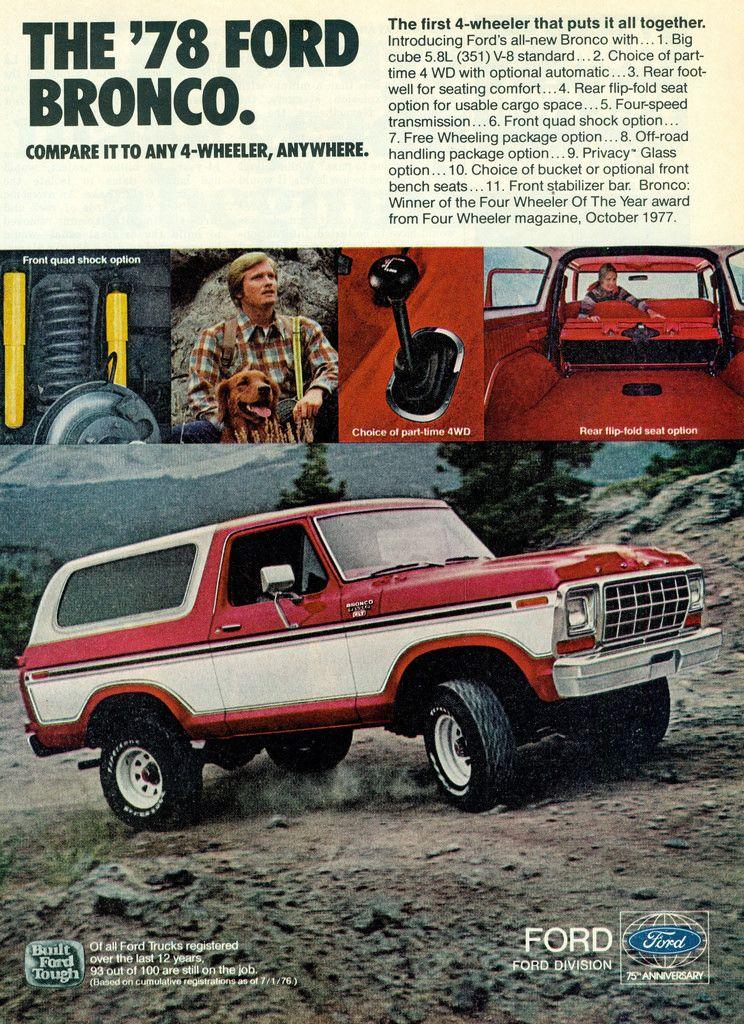 1978 Ford Bronco 4X4 SUV