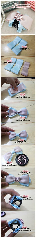 嘀咕图片 - ribbon bow how-to -pics only