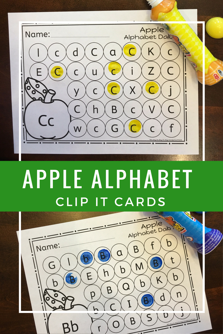 Apple Alphabet Dab It | Worksheets, Language and Students